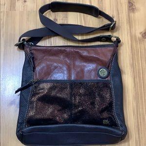 New The Sak 100% Leather 3 Tone Crossbody Soft Bag